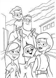 10 mewarnai gambar incredibles bonikids coloring