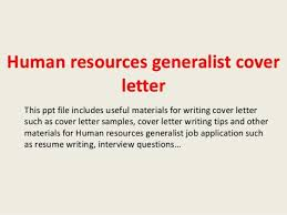 human resources generalist cover letter hr generalist cover
