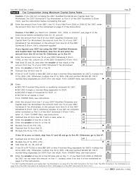 qualified dividends and capital gains tax worksheet worksheets