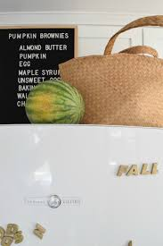 Decor Of Home Fall Kitchen U0026 Paleo Pumpkin Brownies Seasons Of Home Series