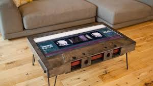 cassette tape coffee table for sale mixtape a cassette tape table handcrafted from reclaimed wood