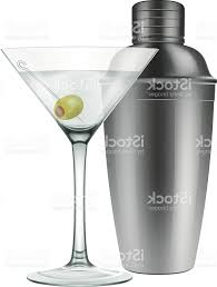 martini shaker unique martini glass and cocktail shaker vector design