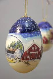 egg ornaments country christmas egg ornament sabbathday lake shaker