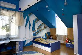 cool bedroom ceiling interior design with outer space theme for