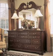 American Woodcrafters American Drew Cherry Grove Triple Dresser W Mirror In Antique