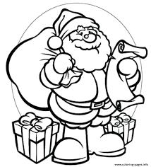 coloring pages to print of santa santa claus coloring sheet plus gifts coloring pages printable santa