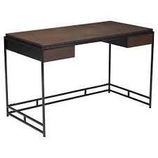 Modern Espresso Desk Mid Century Modern Espresso And Black 48 Desk Zm Home Target