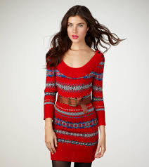 fair isle sweater dress fair isle sweater dress eagle outfitters