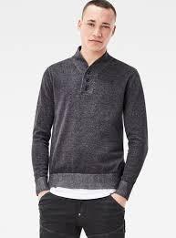 lovely g star powel shawl collar regular fit knit pullover zip up