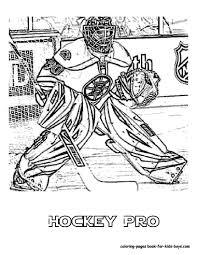 hockey goalie coloring pages nhl worksheets for kids 27 nhl