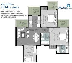 2bhk Floor Plan Arihant Ambar Floor Plan