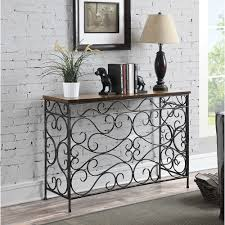 Console Table For Living Room by Convenience Concepts Wyoming Metal And Wood Console Walmart Com