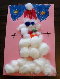 cottonball snowman preschool craft preschool powol packets