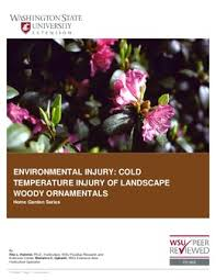 environmental injury cold temperature injury of landscape woody