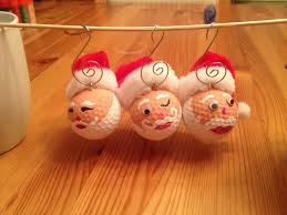 santa golf ornaments i used golf balls that my husband picked