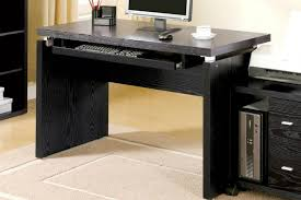 Glass Topped Computer Desk Furniture Black Desk With Drawers Black Glass Computer Desk