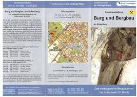 Stadt Bad Krozingen Einladungsflyer Burg Und Bergbau Kultur Und Buergerverein