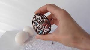 Decorate Easter Eggs Youtube by Wire Wrapped Figurine Easter Egg Youtube