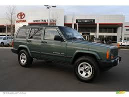 2000 green jeep cherokee 2000 forest green pearl jeep cherokee sport 4x4 43990539
