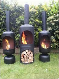 backyards beautiful gas bottle wood burner log chiminea patio