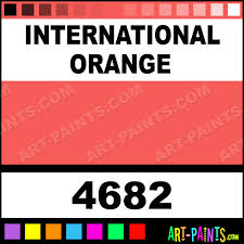 international orange artist acrylic paints 4682 international