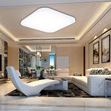 36w dimmable led flush mount lighting fixture remote square led
