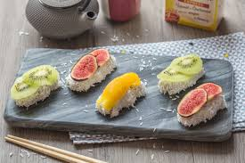 cuisine trompe l oeil sushis sucrés au tapioca et lait de coco cuisine addict