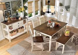 White Dining Room Sets Signature Design By Ashley Whitesburg 7 Piece Rectangular Dining