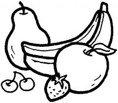 pear apple banana fruits coloring pages for kids a3 printable