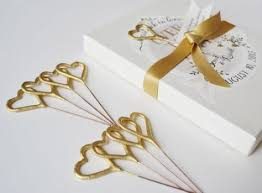 heart shaped sparklers custom gold sparkler boxes for your wedding heart shaped