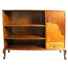 art deco bookcase in golden flame birch and rosewood by carl