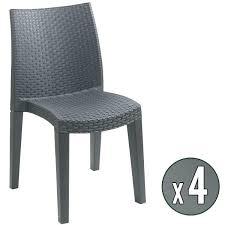 lot 4 chaises pas cher fauteuil de jardin en plastique fauteuil plastique jardin lot 4