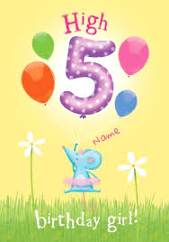 abacus five year old birthday card high five birthday