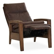 merrick wood arm recliner luxe home company