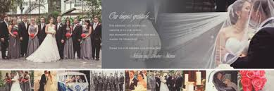trifold photo collage wedding thank you cards by idowithyou