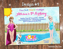 frozen anna elsa olaf in summer custom pool swim birthday
