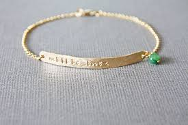 bracelet with name images Custom thin gold horizontal tag bracelet with name and birthstone jpg