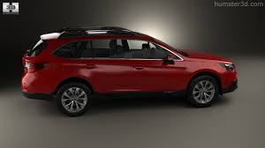 red subaru outback 360 view of subaru outback 2015 3d model hum3d store