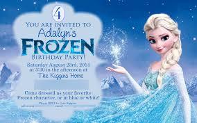 frozen birthday party invitations dhavalthakur com