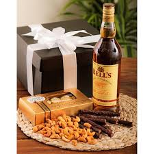 whiskey gift basket whiskey nuts biltong chocolate corporate south africa