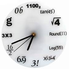 new home decoration wall clock modern design interest math diy