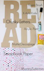 how to decoupage letters with no bubbles or creases playrooms