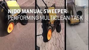 industrial manual sweeper cleaning asphalt road cleaning paver