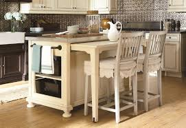 small kitchen island table with creative wall and hanging cabinet
