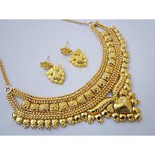 one gram gold plated beautiful necklace earrings jewellery