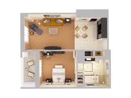 deluxe suites at waldorf astoria orlando view 3d floor plans