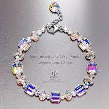 multi color swarovski crystal bracelet images Swarovski crystal bracelet lady colour a little jpg