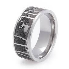 ring titanium men s laser carved titanium deer ring