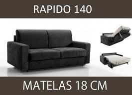 canap microfibre gris canape lit 3 places master convertible ouverture rapido 140 cm