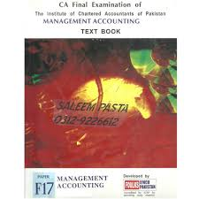 ca final examination of icap management accounting text book